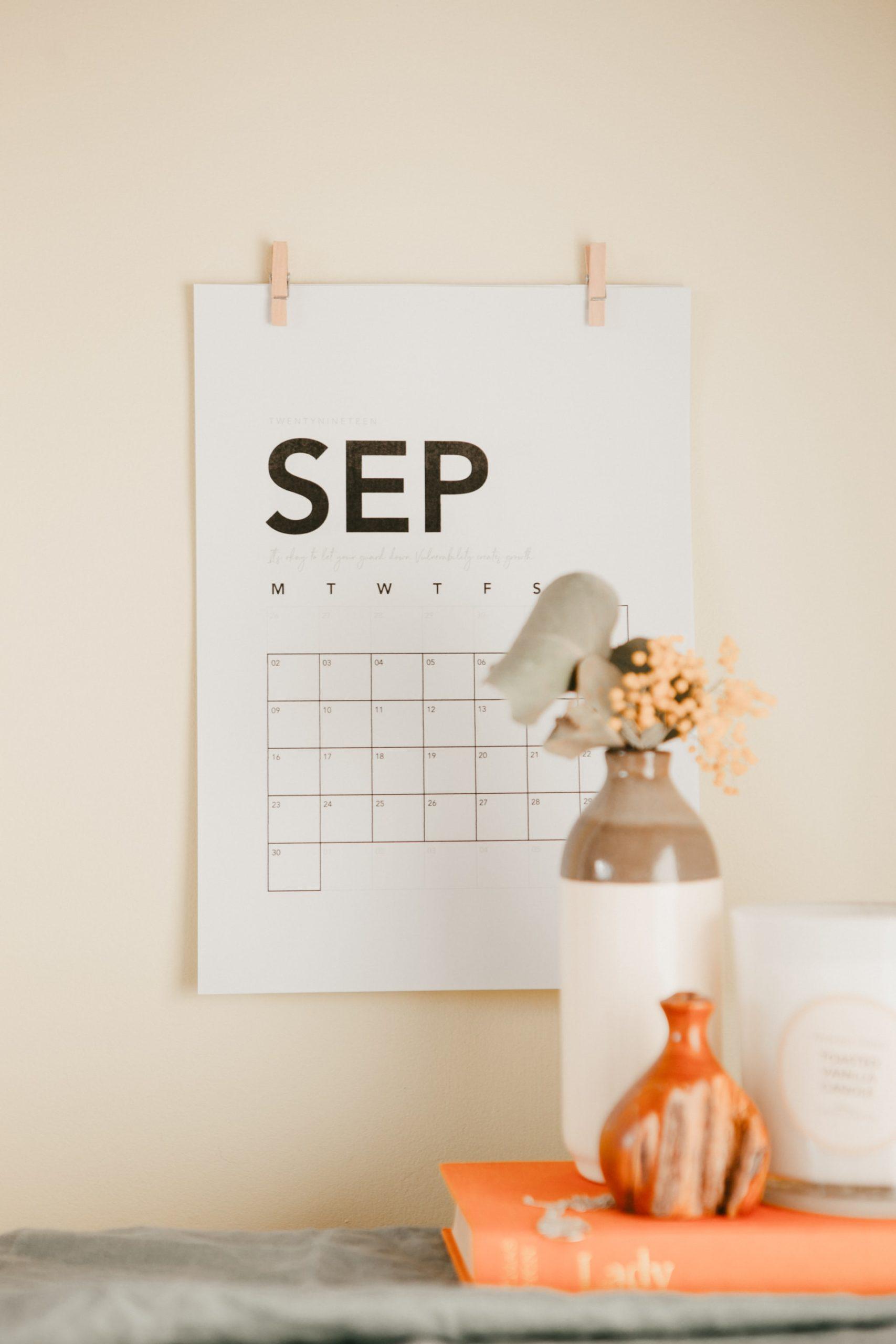 9月定休日ならびに祝日の営業について
